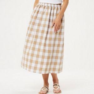 Joan Rivers Petite Plus Buffalo Check Midi Skirt